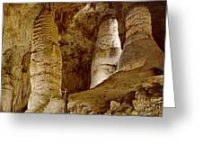 Giant Twin Domes At Carlsbad Caverns Greeting Card by Ruth  Housley