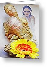 Ginger Man Greeting Card by Sarah Loft