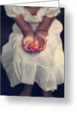 Girl Is Holding A Heart Greeting Card by Joana Kruse