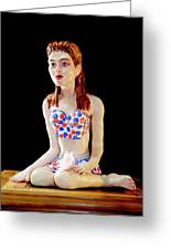 Girl With Lotus 1 Greeting Card by Yelena Rubin