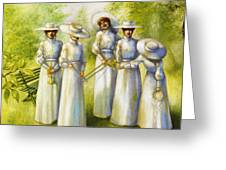 Girls In The Band Greeting Card by Jane Whiting Chrzanoska