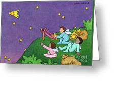Giving Wishes Wings Greeting Card by Sarah Batalka