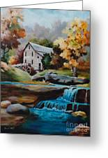 Glade Creek Mill Greeting Card by Brenda Thour