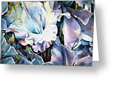 Glads White  Greeting Card by June Conte  Pryor