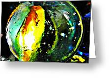 Glass Abstract 83 Greeting Card by Sarah Loft