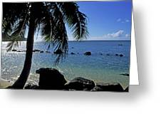 Glistening Anini Beach Greeting Card by Kathy Yates