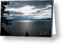 Glistening Lake  Greeting Card by The Kepharts