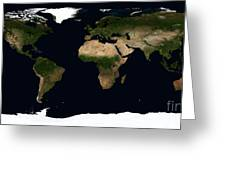 Global Image Of The World Greeting Card by Stocktrek Images