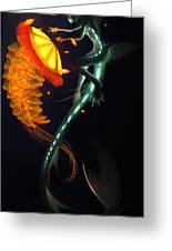 Glowing Depths Greeting Card by Nicki Lagaly