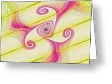 Gnarly Spiral Greeting Card by Deborah Benoit