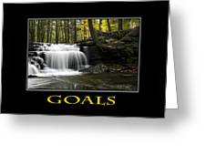 Goals Inspirational Motivational Poster Art Greeting Card by Christina Rollo