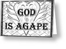 God Is Love - Agape Greeting Card by Glenn McCarthy Art and Photography