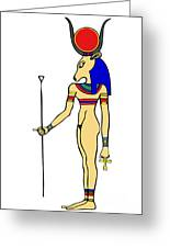 God Of Ancient Egypt - Hathor Greeting Card by Michal Boubin