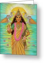 Goddess Lakshmi Greeting Card by Sue Halstenberg