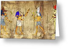 Gods Of Ancient Egypt Greeting Card by Michal Boubin