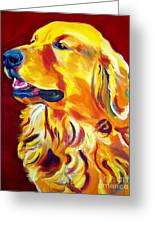 Golden - Scout Greeting Card by Alicia VanNoy Call