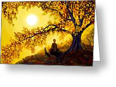 Golden Afternoon Meditation Greeting Card by Laura Iverson