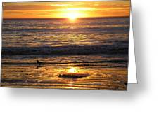 Golden Beach Greeting Card by J Perez