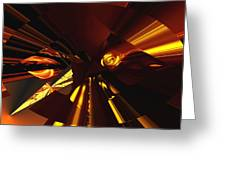Golden Brown Abstract Greeting Card by David Lane