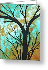 Golden Fascination 4 Greeting Card by Megan Duncanson