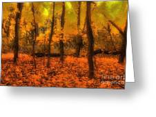Golden Forest Greeting Card by Jeff Breiman