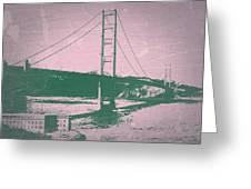 Golden Gate Bridge Greeting Card by Naxart Studio