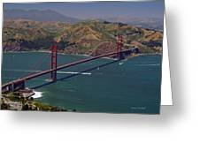 Golden Gate Greeting Card by Donna Blackhall