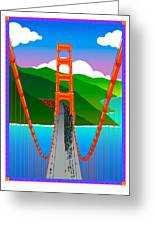 Golden Gate Greeting Card by Phil Dynan