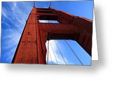 Golden Gate Tower Greeting Card by Aidan Moran