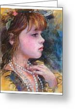 Golden Girl Greeting Card by Debra Jones