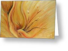 Golden Glow Greeting Card by Nadine Rippelmeyer