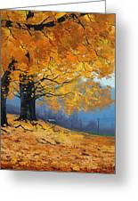 Golden Leaves Greeting Card by Graham Gercken