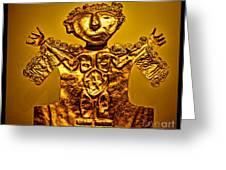 Golden Priest Statue Greeting Card by Alexandra Jordankova