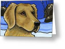 Golden Retriever Greeting Card by LEANNE WILKES