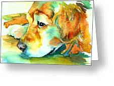 Golden Retriever Profile Greeting Card by Christy  Freeman