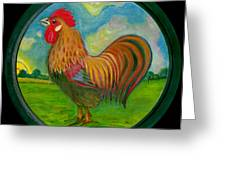 Golden Rooster Greeting Card by Anna Folkartanna Maciejewska-Dyba