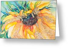 Golden Sunflower Greeting Card by Kate Bedell