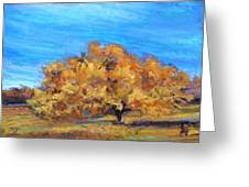 Golden Tree Greeting Card by Susan Jenkins