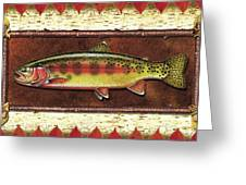 Golden Trout Lodge Greeting Card by JQ Licensing