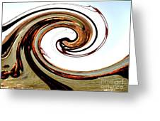 Golden Twist Greeting Card by Norman  Andrus