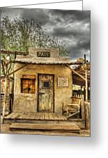 Goldfield Ghost Town - Jail  Greeting Card by Saija  Lehtonen