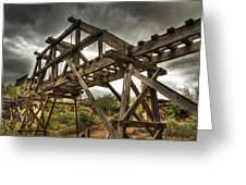 Goldfield Ghost Town - The Bridge Greeting Card by Saija  Lehtonen