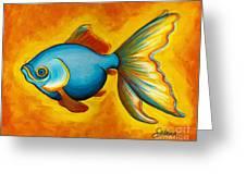 Goldfish Greeting Card by Sabina Espinet