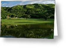 Golfito Desde La Laguna Greeting Card by Bibi Romer