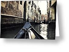 gondola - Venice Greeting Card by Joana Kruse