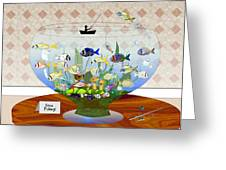 Gone Fishing Greeting Card by Arline Wagner