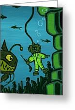 Gone Fish'n Greeting Card by Dan Keough