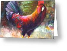 Gonzalez the Rooster Greeting Card by Talya Johnson