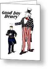Good Boy Dewey Greeting Card by War Is Hell Store