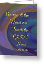 Good News Greeting Card by Trish Jenkins